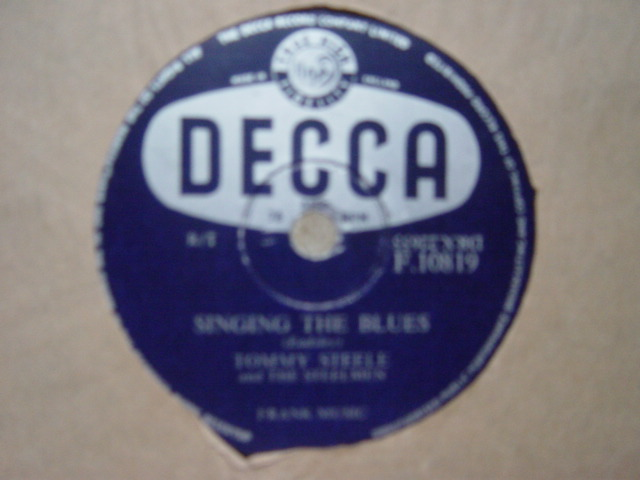 Tommy Steele - Rebel Rock / Singing the Blues - Decca F.10819
