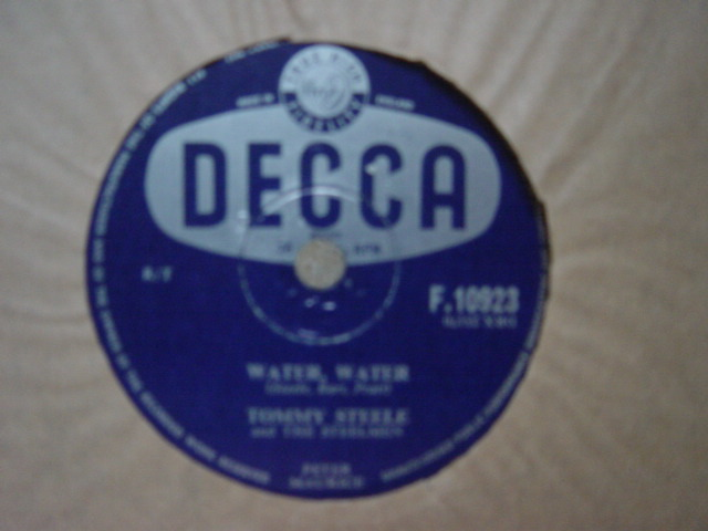Tommy Steele - Water Water - Decca F.10923 UK