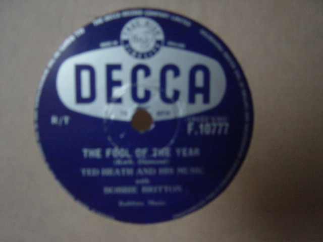 Ted Heath Bobbie Britton - Fool of the year - Decca F.10777