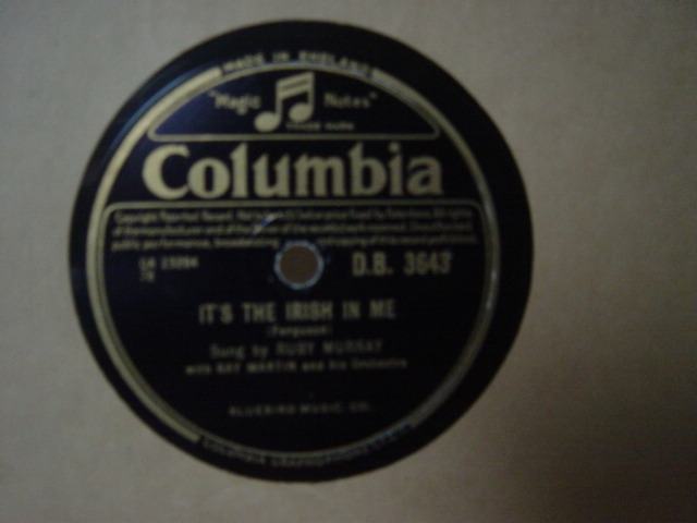 Ruby Murray - It's the Irish in me - Columbia DB.3643