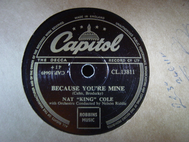 Nat King Cole - Because youre Mine - Capitol CL.13811