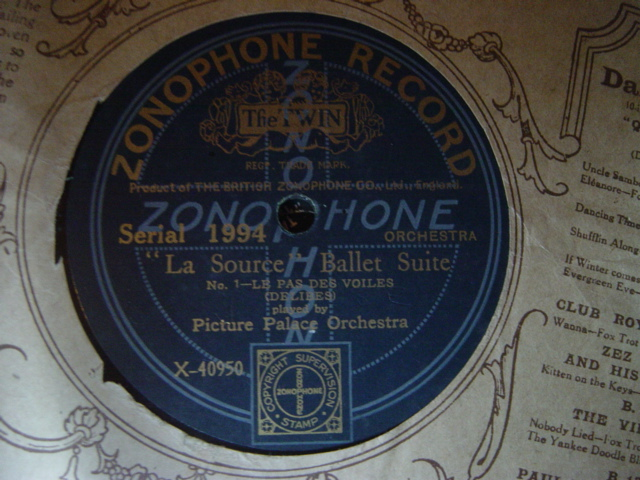 Picture Palace Orchestra - Delibes La Source - Zonophone 1994
