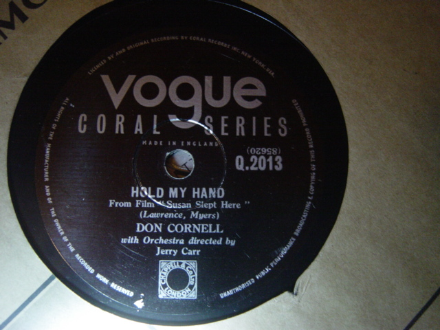 Don Cornell - I'm Blessed / Hold my Hand - Vogue Coral Q.2013