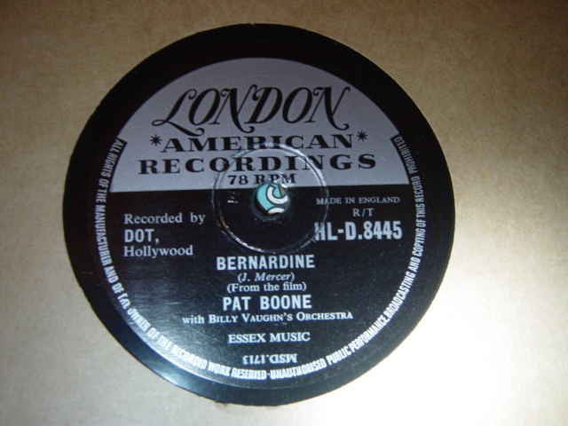 Pat Boone - Bernadine / Love letters in sand - London HLD-8445