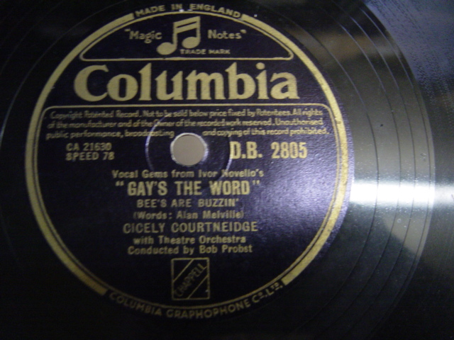 Cecily Courtneidge - Gay's the Word - Columbia DB.2805 VG+