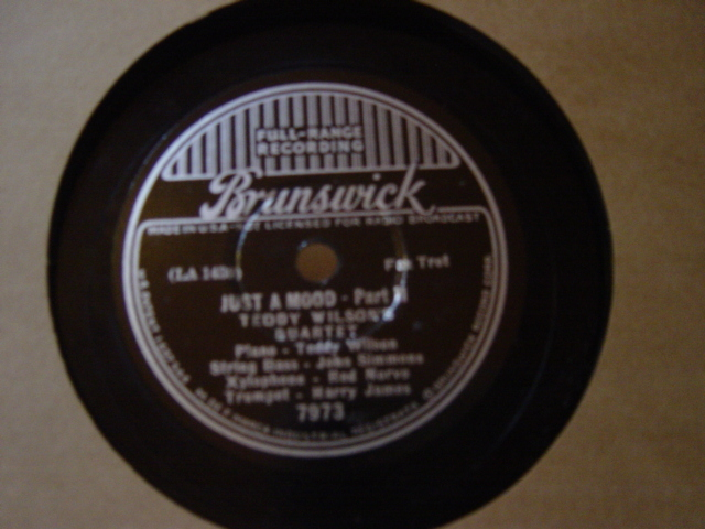 Teddy Wilson - Just a Mood - Brunswick 7973
