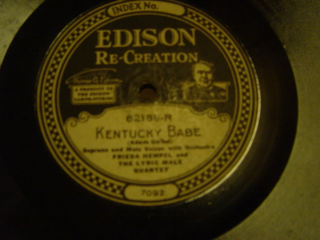 Frieda Hempel - Kentucky Babe - Edison Re Creation 82189R