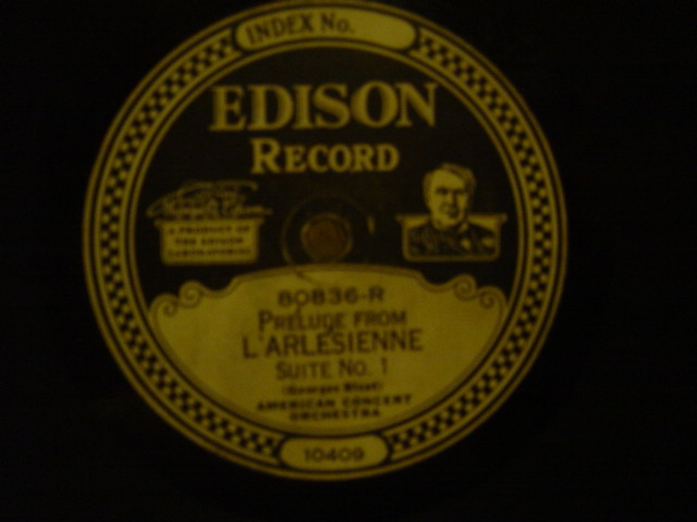 American Concert Orchestra - L'Arlesienne - Edison Disc 80836