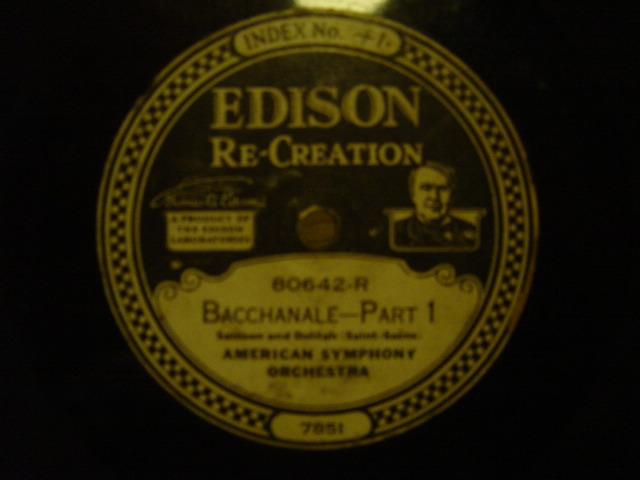 American Symphony Orchestra - Bacchanale - Edison Disc 80642