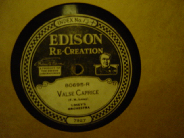 Losey's Orchestra - Valse Caprice - Edison Disc 80695
