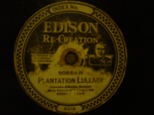 Crescent Trio - Plantation Lullaby - Edison Disc 50855