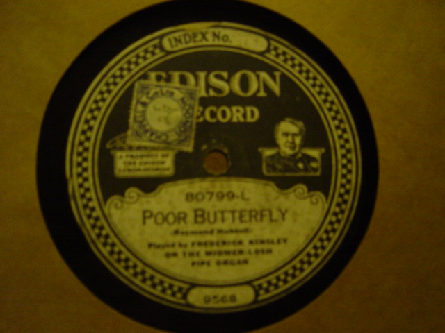 Frederick Kinsley Organ - Poor Butterfly - Edison Disc 80779
