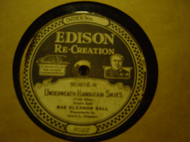 Rae Eleanor Ball - Carolina Lullaby - Edison Disc 50816