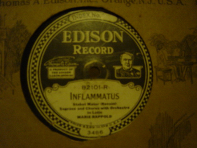 Marie Rappold / Harry E. Humphrey - Edison Disc 82101
