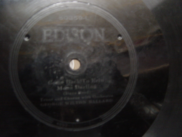 George Wilton Ballard - Come Back to Erin Mona - Edison 50359