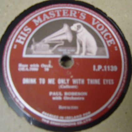 Paul Robeson - Loch Lomond - HMV I.P.1139 Irish