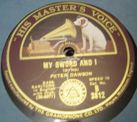 Peter Dawson - My Sword and I - HMV B.3812 UK