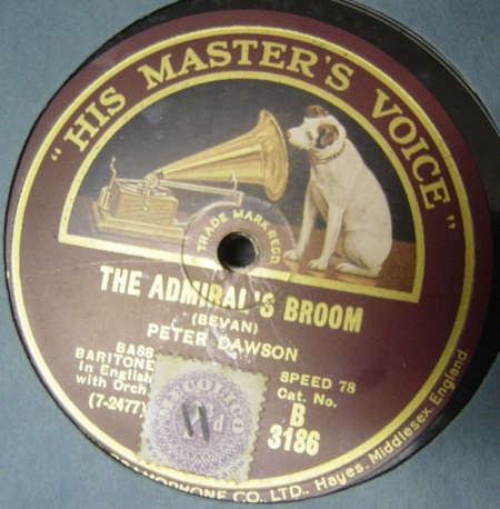 Peter Dawson - The Admiral's Broom - HMV B.3186