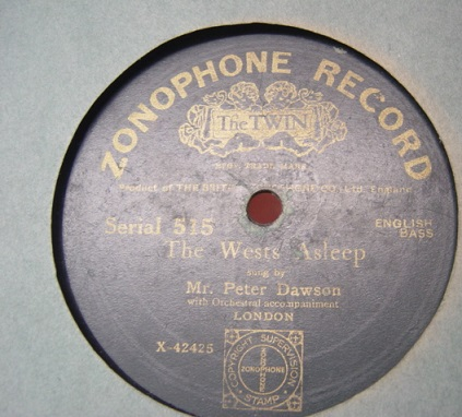 Peter Dawson - The West Asleep - Zonophone 515
