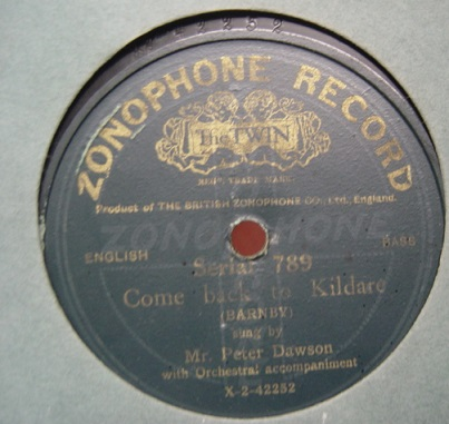 Peter Dawson - Come back to Kildare - Zonophone 789