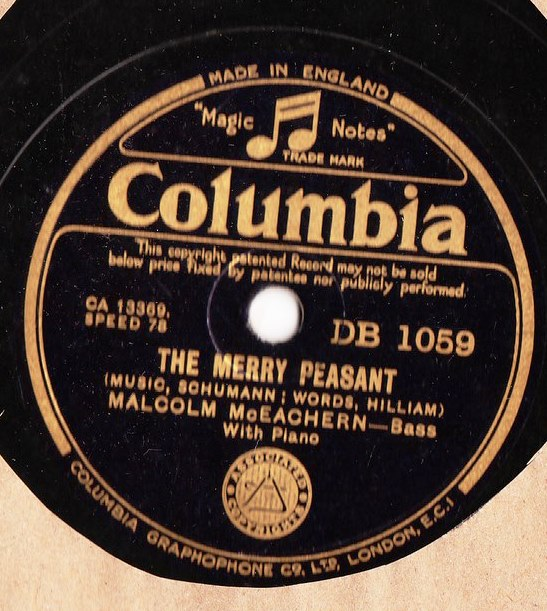 Malcolm McEachern - The Merry Peasant - Columbia DB.1059