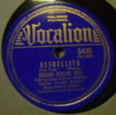 Adrian Rollini - Dark Eyes - Vocalion 5435 USA