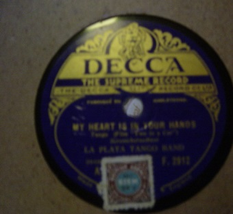 La Plata Tango Band - My heart is in your hands - Decca F.2912