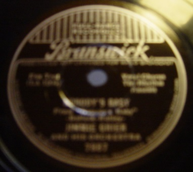 Jimmie Grier - Nobody's Baby - Brunswick 7887 USA