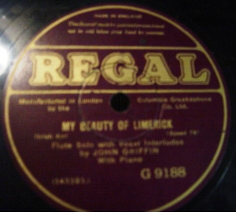 John Griffin - My Beauty of Limerick - Regal G.9188