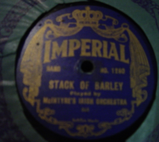 McIntyre's Irish Orchestra - Stack of Barley - Imperial 1280