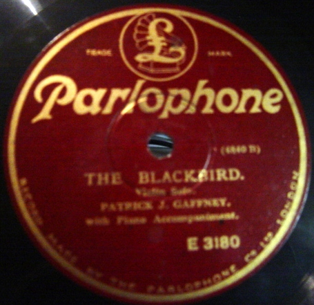 Patrick J Gaffney - The Blackbird - Parlophone E. 3180
