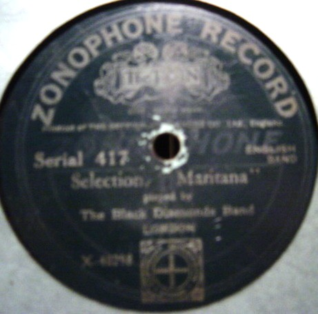 Black Diamonds Band - Martiana - Zonophone 417