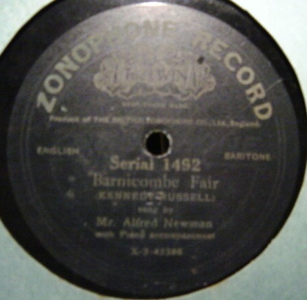 Alfred Newman - Susan / Barnicombe Fair - Zonophone 1492