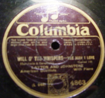 Layton & Johnstone - Will o' the whispers - Columbia 4863