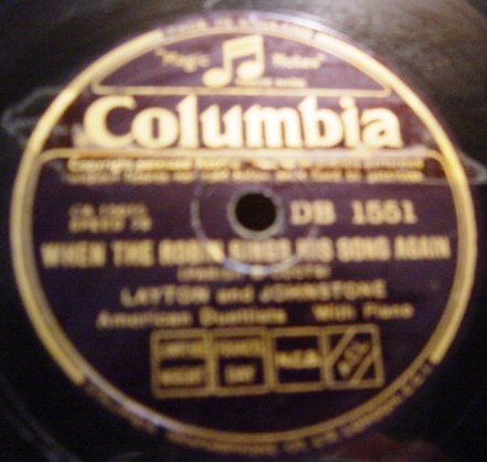 Layton & Johnstone - March Winds - Columbia DB.1551
