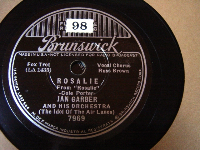 Jan Garber - Rosalie - Brunswick 7969 / E+++