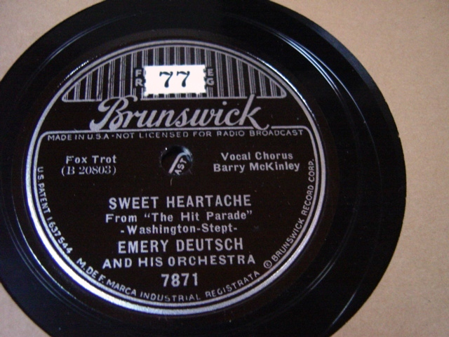 Emery Deutsch - Sweet Heartache - Brunswick 7871 / E+++