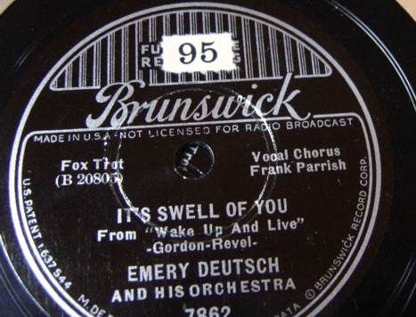 Emery Deutsch - It's swell of you - Brunswick 7862 / E+++