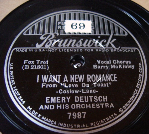 Emery Deutsch - I want a new Romance - Brunswick 7987 / E+++