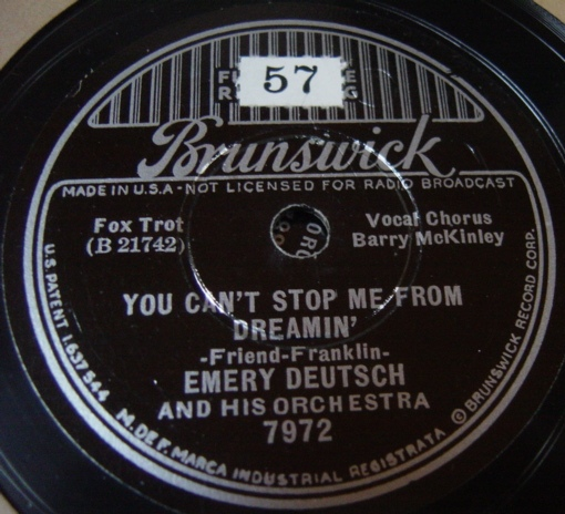 Emery Deutsch - Vieni ' Vieni - Brunswick 7972 / E+++