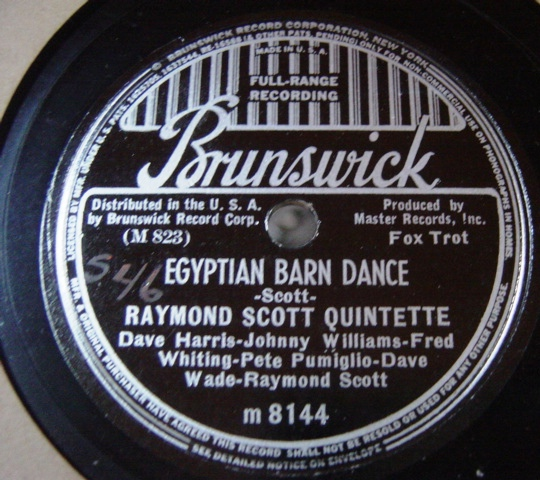 Raymond Scott - Happy Farmer - Brunswick 8144 E+++