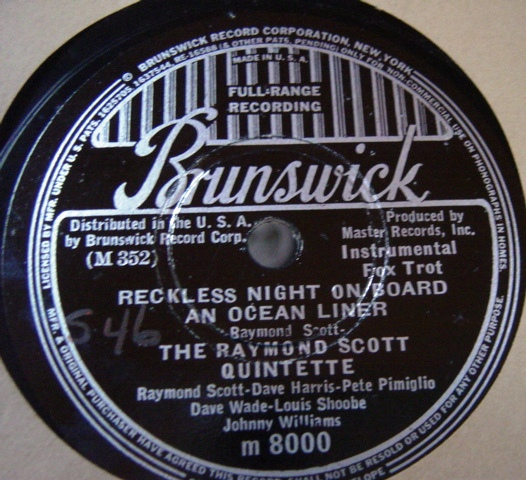 Raymond Scott - Reckless Night Ocean - Brunswick 8000 E+++