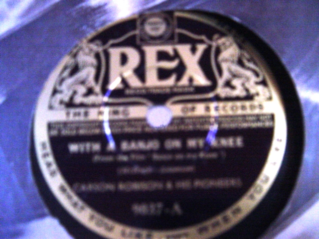 Carson Robison - With a Banjo on my Knee - Rex 9037 E+++