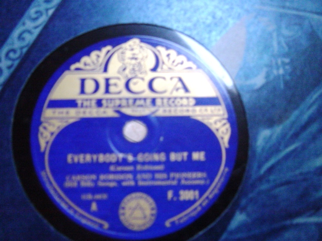 Carson Robison - Everybody's going but me - Decca F.3001 E+++