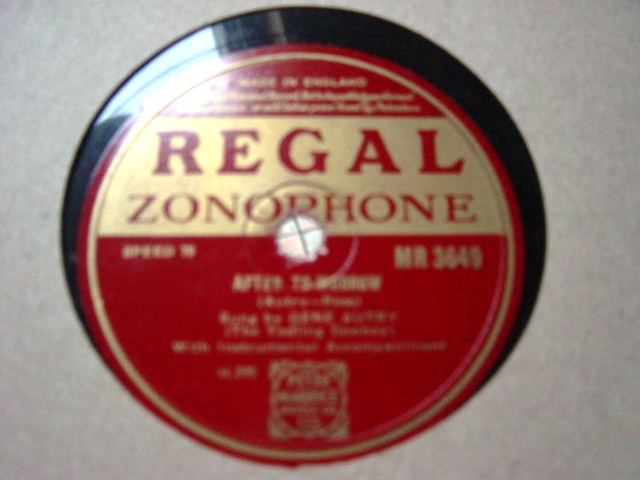 Gene Autry - Afret Tomorrow - Regal Zonophone MR.3649 E+