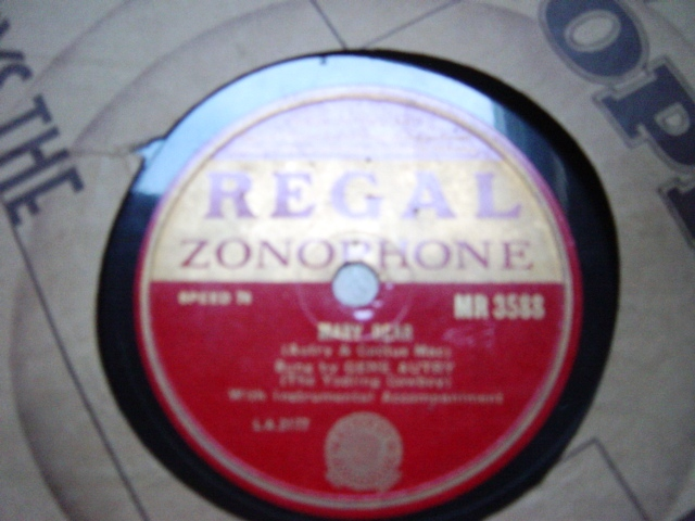 Gene Autry - You are my Sunshine - Regal Zonophone MR.3588 E+++
