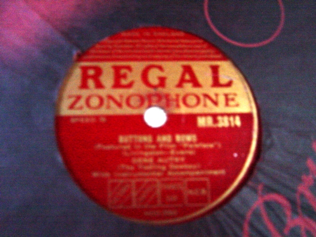 Gene Autry - Buttons and Bows - Regal Zonophone MR.3814 E+++