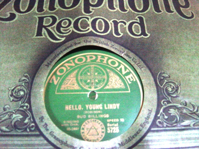 Bud Billings - Hello young Lindy - Zonophone 5725 E+++