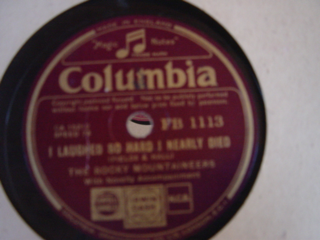 The Rocky Mountaineers - I laughed - Columbia FB.1113 E+++