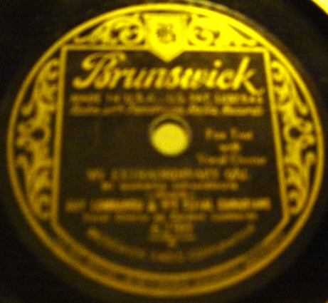 Guy Lombardo - Paradise - Brunswick 6290 USA